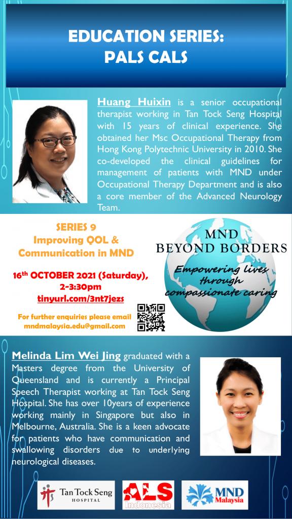 Topic: Improving QOL & Communication in MND